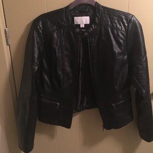 Black Faux Letter Jacket